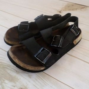 Birkenstock Betula Black Leather Sandals